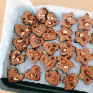チョコクッキーは焼き加減がむずかしい