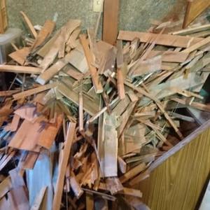 秘密基地建設 その65:廃材の仕分けと切断