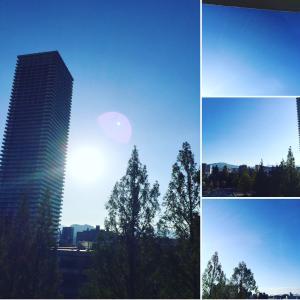 毎日空を見ながら 上を向いて歩こう!