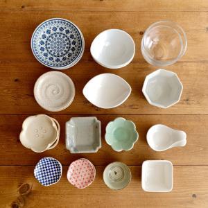 小皿の整理を検討中です。