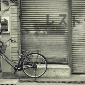 哀愁自転車風景