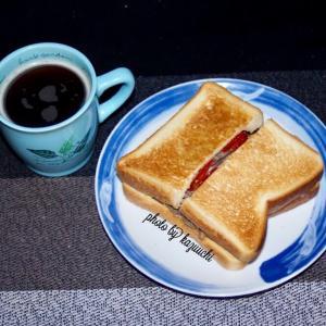 ホットサンドイッチ  (朝食)  7/29  肉の日
