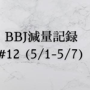 ベストボディジャパン 減量記録(5/1~5/7)