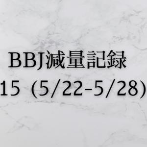 ベストボディジャパン 減量記録(5/22~5/28)