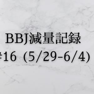 ベストボディジャパン 減量記録(5/29~6/4)