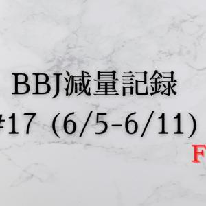ベストボディジャパン 減量記録(6/5~6/11)