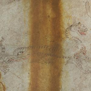 キトラ古墳の白虎の復元図を描いてしまいました!!