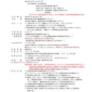 静岡県小学生ソフトテニス選手権大会 案内来ました