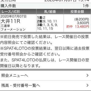 7月7日 大井11R買い目配信結果(公式LINE)