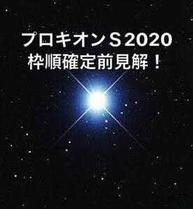 プロキオンS2020枠順確定前見解!