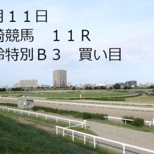 8月11日 川崎11R 風鈴特別B3買い目