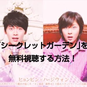 ヒョンビン×ハ・ジウォン主演 韓国ドラマ「シークレットガーデン」の動画を全話無料で視聴する方法!どの動画サイトで見れるの?
