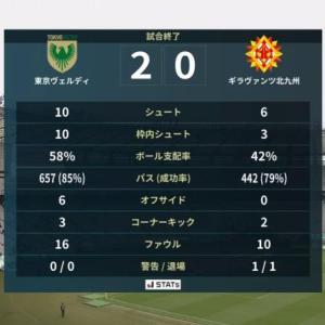アウェイ味スタ、ゴールは遠かった... 東京V 2-0 北九州