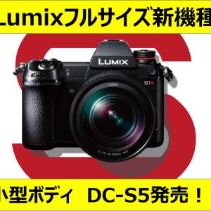 【カメラ】パナからフルサイズの小型ボディDC-S5が出る!?