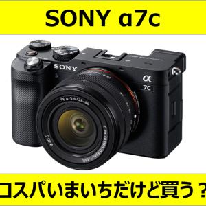 【カメラ】SONY α7c 買わない理由【レビュー】