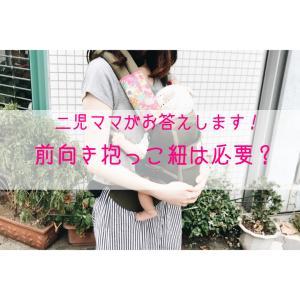 前向き抱っこ紐は必要?ニ児ママが抱っこ紐の疑問についてお答えします!