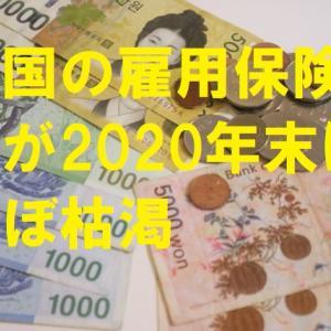 韓国の雇用保険基金が2020年末にほぼ枯渇
