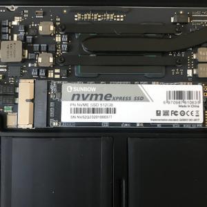 MacBook Air 11インチ Early2015のSSDをNVMe 512GBに換装!ベンチマークのスコアが凄い!