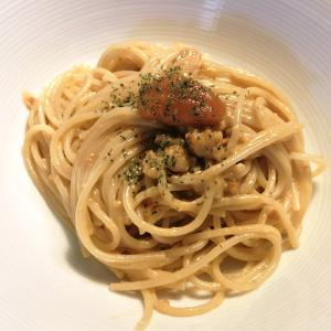 ウニのクリームスパゲッティ