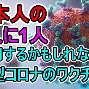 日本人の2人に1人が使用する可能性がある新型コロナウイルスワクチン 今年中に使用開始の可能性 ファイザー社 メッセンジャーRNAワクチン BNT162b2