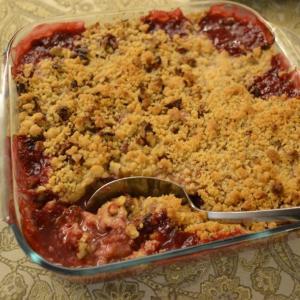 Raspberry Rhubarb Crumble ルバーブとラズベリーのクランブル