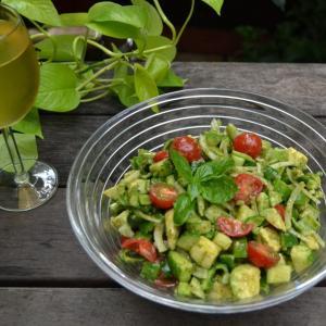 Summer Salad with Basil Vinaigrette バジルビネグレットのサマーサラダ