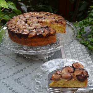Fig Upside Down Cake 無花果のアップサイドダウンケーキ