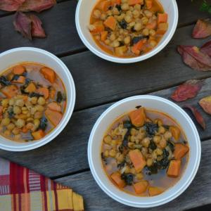Chickpea and Sweet Potato Soup ひよこ豆とサツマイモのスープ
