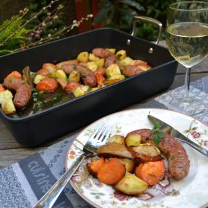 Baked Sausage with Veggies ソーセージと野菜のオーブン焼き
