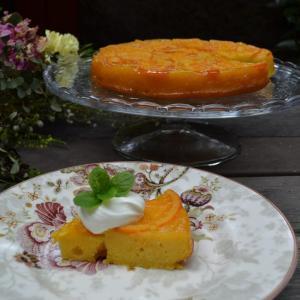 Orange Cornmeal Upside Down Cake オレンジコーンミールアップサイドダウンケーキ