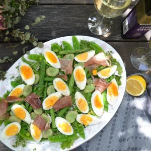 Egg and Spring Vegetable Salad 卵と春野菜のサラダ