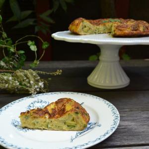 Spanish Tortilla with Zucchini ズッキーニのスペイン風オムレツ