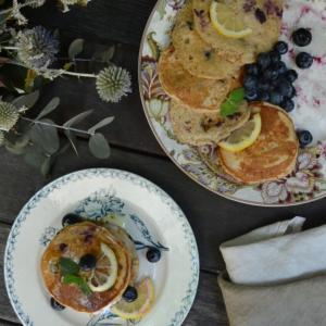 Lemon Blueberry Pancakes レモンとブルーベリーのパンケーキ