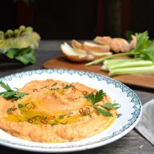 Roasted Red Pepper Hummus 赤パプリカのフムス