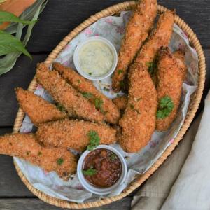Oven-Baked Chicken Tenders  鶏ささみのオーブン焼き