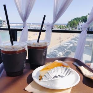 江陵(カンヌン)旅行③ オーシャンビュールーフトップカフェ!BOSSA NOVA COFFEE ROASTERS