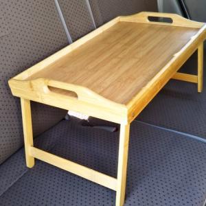 車中泊でも便利そうなコメリNatural Seasonバンブーローテーブル