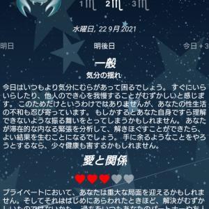 蠍座(m2)占いの結果 9月22日(水)