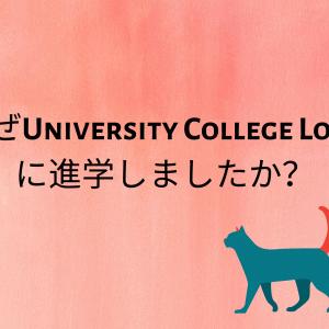 Q: なぜUniversity College Londonに進学しましたか?