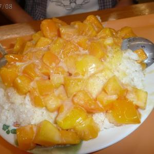 2007年8月:台大近くでローストご飯と(また)マンゴーかき氷