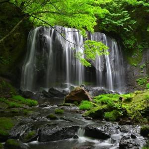 🎐達沢不動滝の涼しい写真です♪
