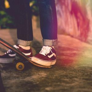 スケートボード ミニランプの初め方☆(ここだけ押さえれば、怖くもないし痛くもない方法)