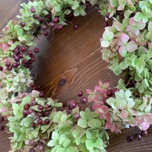 紫陽花しか勝たん!秋色リース作り