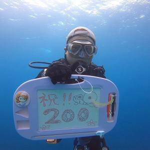 スキューバダイビング 20年かけて200本