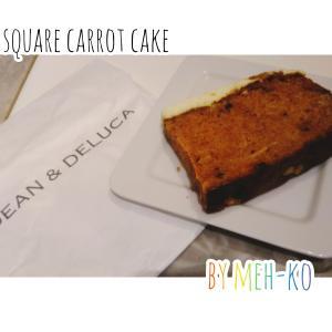 DEAN&DELUCA青山店の四角いキャロットケーキ-イギリス生活を懐かしむ-