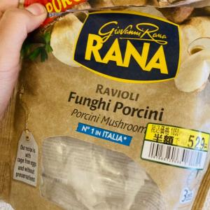 三浦屋で買ったポルチーニ茸のラビオリ