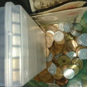 貯金箱の中身を勘定しなおす