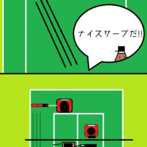 ソフトテニスの4コマ