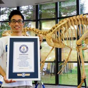 恐竜卵の化石、推定10グラム 世界最小ギネス記録に
