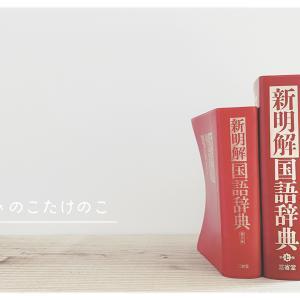 読む辞書、新明解国語辞典。